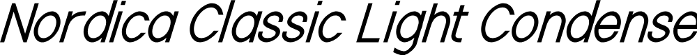 Preview image for Nordica Classic Light Condensed Oblique