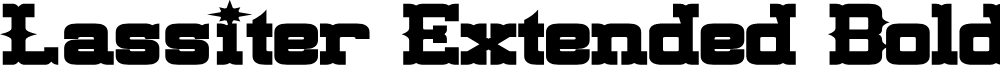 Lassiter Extended Bold