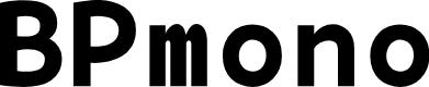 Preview image for BPmono Bold