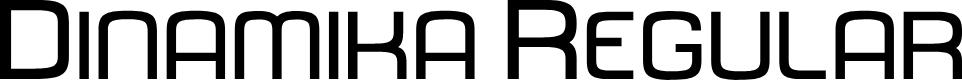 Preview image for Dinamika Regular Font