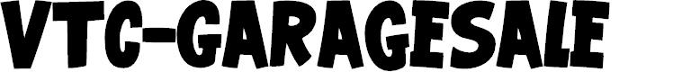 Preview image for VTC-GarageSale Font
