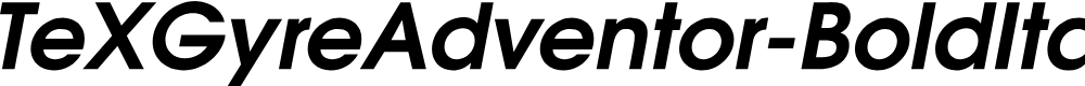 Preview image for TeXGyreAdventor-BoldItalic