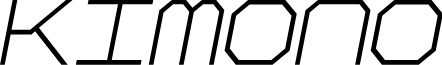 Kimono Geo Italic