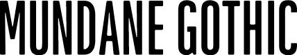Preview image for MundaneGothic-Regular Font