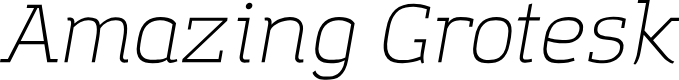 Preview image for Amazing Grotesk Light Italic