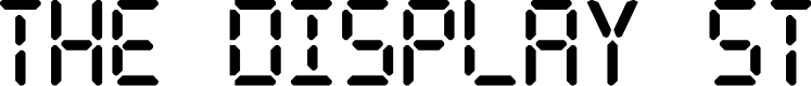 Preview image for The Display St Font