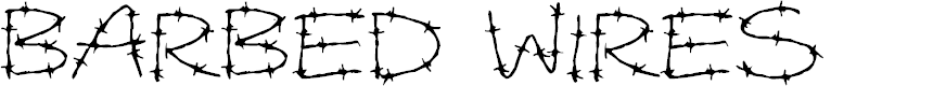 Preview image for Barbed Wires Font