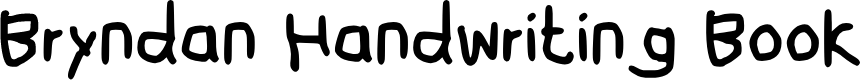Preview image for Bryndan Handwriting Book Font
