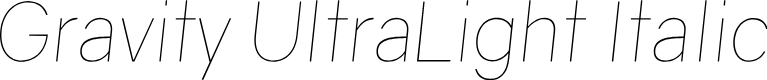 Preview image for Gravity UltraLight Italic