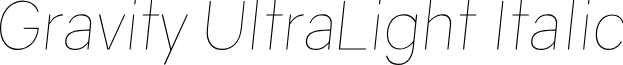 Gravity UltraLight Italic