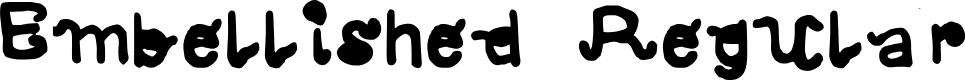 Preview image for Embellished Regular Font