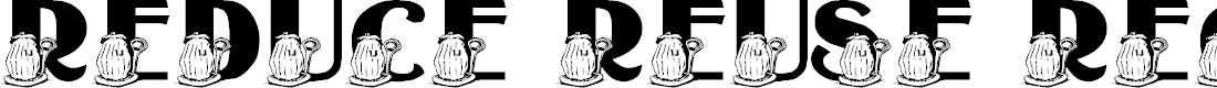 Preview image for LMS Reduce, Reuse, Recycle Font