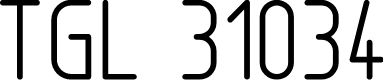 Preview image for TGL 31034-1 Normal Font