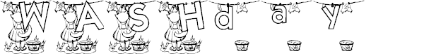 Preview image for KG WASHDAY Font