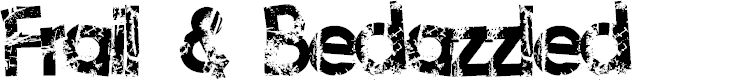 Preview image for Frail&Bedazzled Font