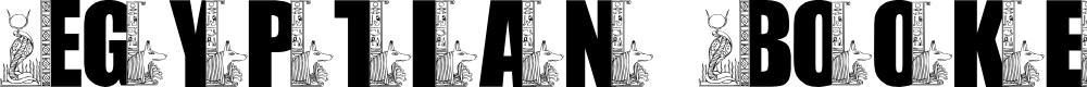 Preview image for LMS Egyptian Bookends Font