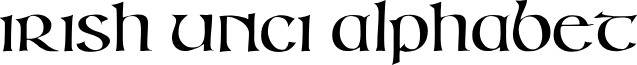 IrishUnciAlphabet font