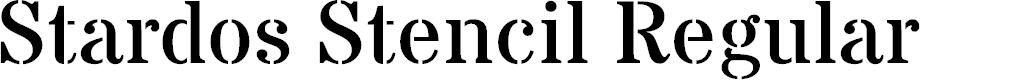Preview image for Stardos Stencil Regular Font