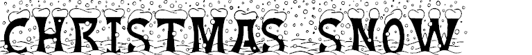 Preview image for Christmas Snow Font