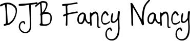 Preview image for DJB Fancy Nancy Font