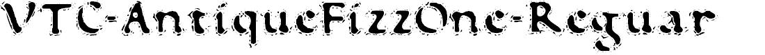 Preview image for VTC-AntiqueFizzOne-Reguar Font