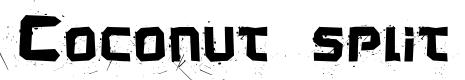 Preview image for Coconut split Font