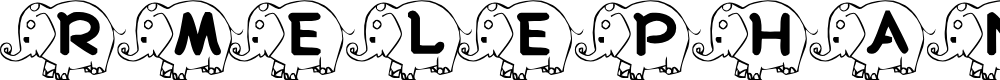 Preview image for RMElephant4   Font
