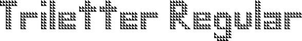 Preview image for Triletter Regular Font