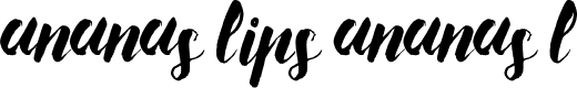 Preview image for Ananas Lips Ananas L Font