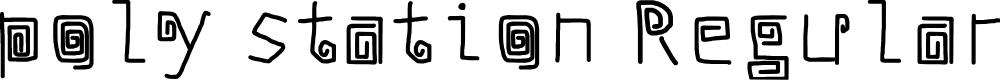 Preview image for poly station Regular Font