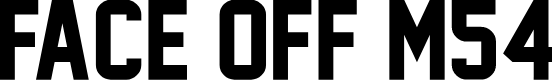 Preview image for Face Off M54 Font