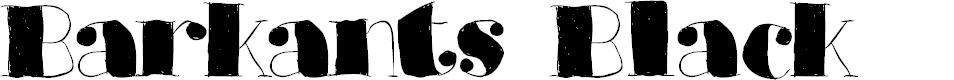 Preview image for Barkants Black Font