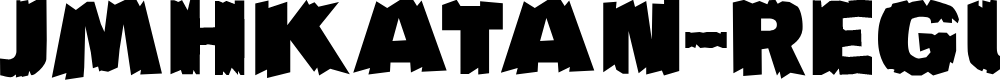 Preview image for JMHKATAN-Regular Font