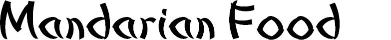 Preview image for Mandarian Food Font