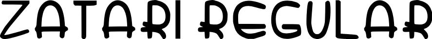 Preview image for Zatari Regular Font