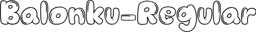 Balonku-Regular font