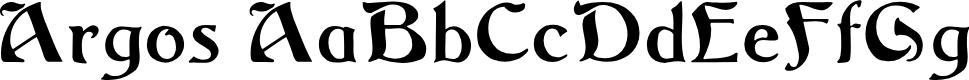 Preview image for Argos Regular Font