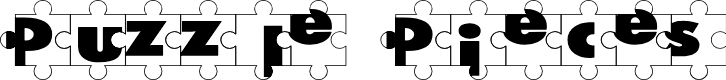 Preview image for Puzzle Pieces Font