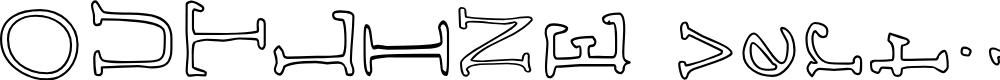 Preview image for AEZ outline vertical Font