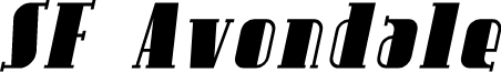 SF Avondale Italic