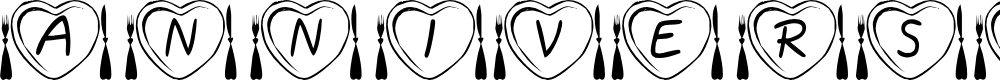 Preview image for KR Anniversary Dinner Font