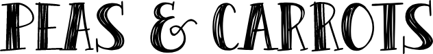 Preview image for Peas & Carrots Font