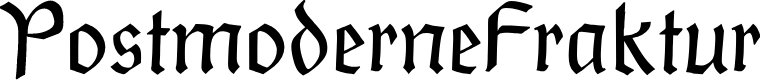 Preview image for PostmoderneFraktur Font