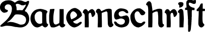 Bauernschrift font