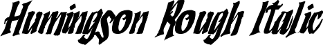 Humingson Rough Italic