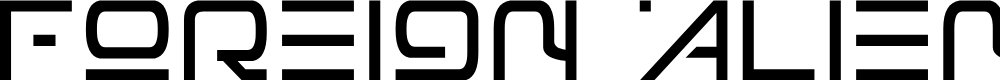 Preview image for Foreign Alien Font