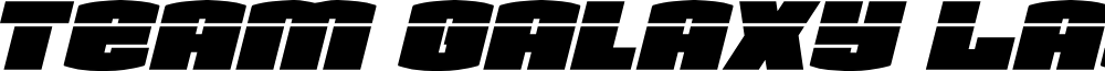 Team Galaxy Laser Italic