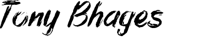 Preview image for Tony Bhages Font