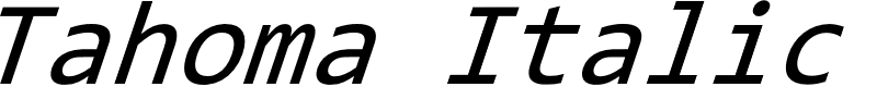 Preview image for Tahoma Italic