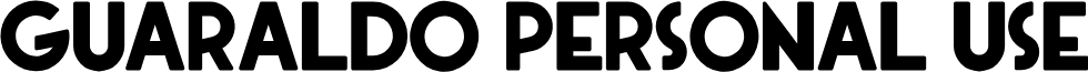 Guaraldo Personal Use font
